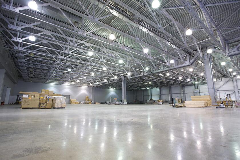 large warehouse epoxy flooring