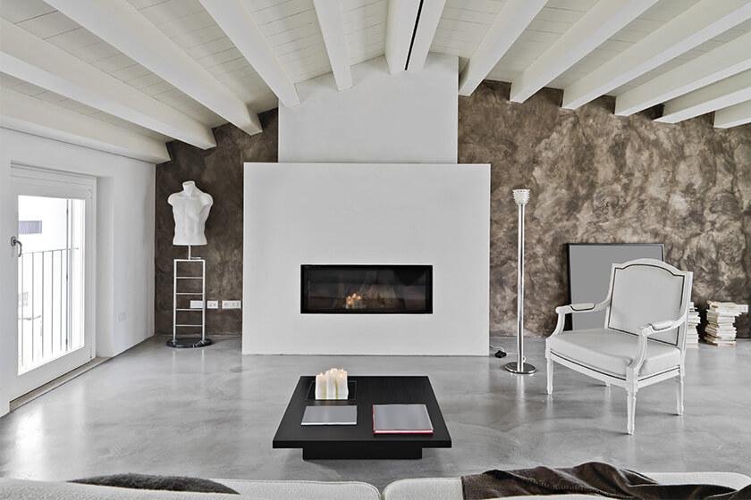 living room epoxy flooring
