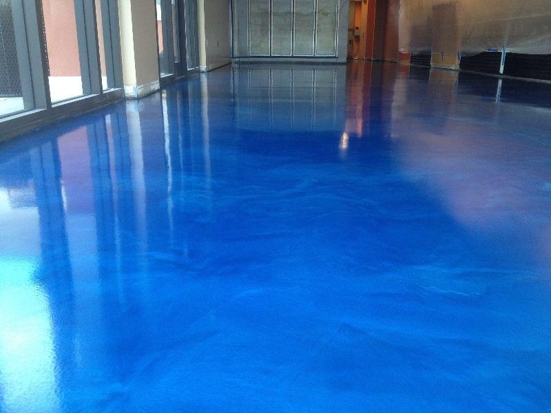 Colorful Metallic Epoxy Flooring